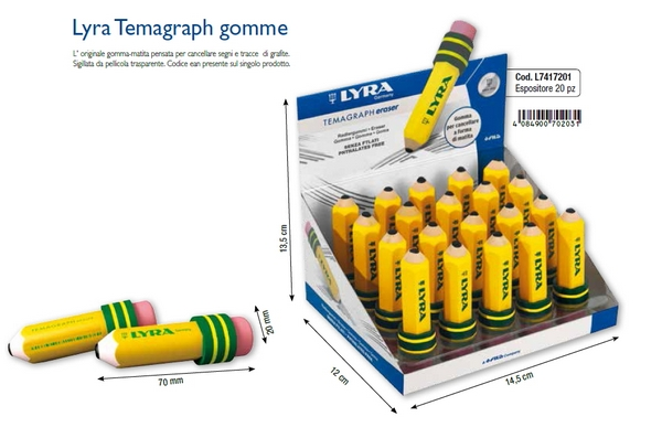 EXPO GOMMA TEMAGRAPH ERASER 20pz