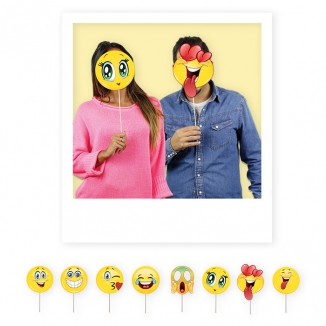 PHOTO BOOTH 8PZ 20cm EMOTICONS