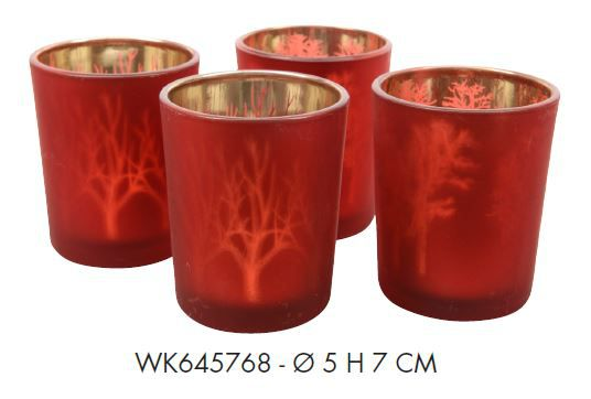 PORTAT-LIGHT SET 2pz D5H7cm ROSSO