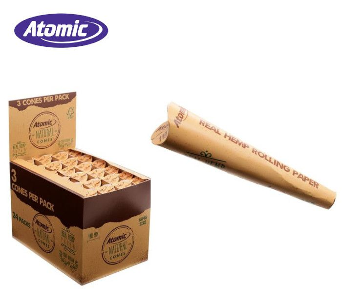 CARTINE ATOMIC CONI 3x110mm NATURAL 24pz