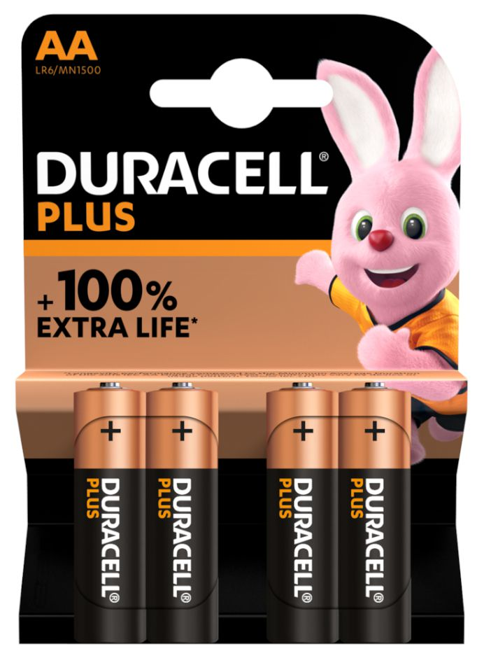 BATTERIE DURACELL MN1500 STILO 1.5v 4x 1pz PLUS POWER