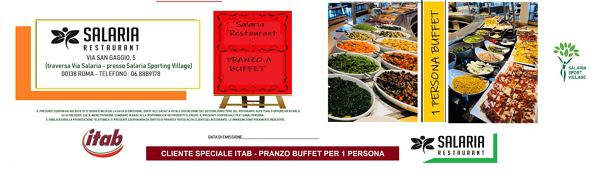 COUPON SALARIA RESTAURANT 1 PERSONA BUFFET