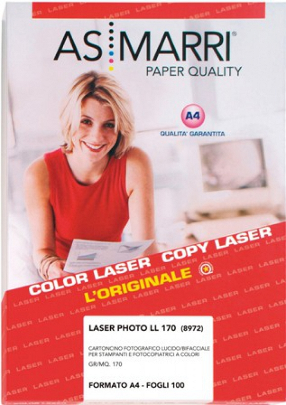 CARTA LASER FOTO A4 100FG 200GR AS/M. 8973 F/R
