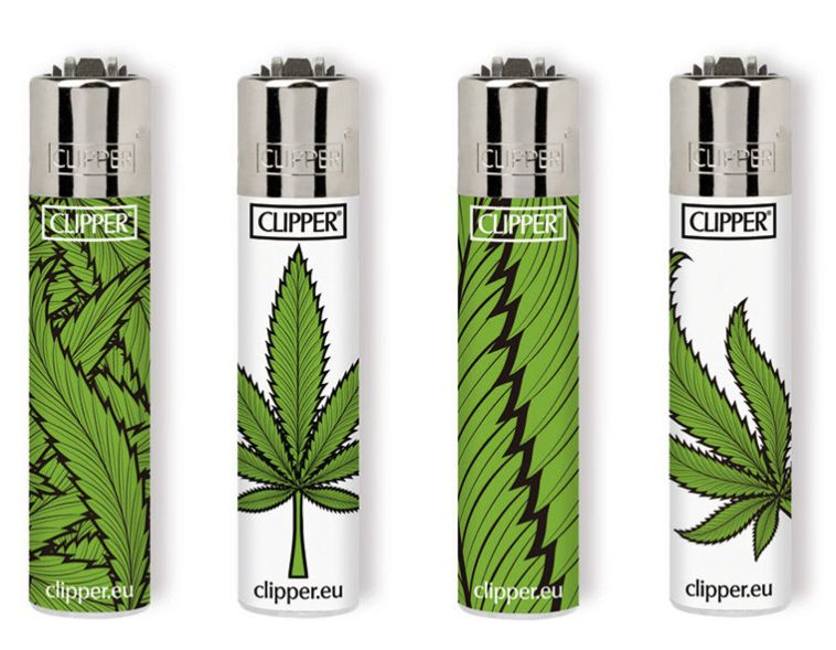 ACCENDINO CLIPPER MINI PIETRINA 48pz GREEN WEED